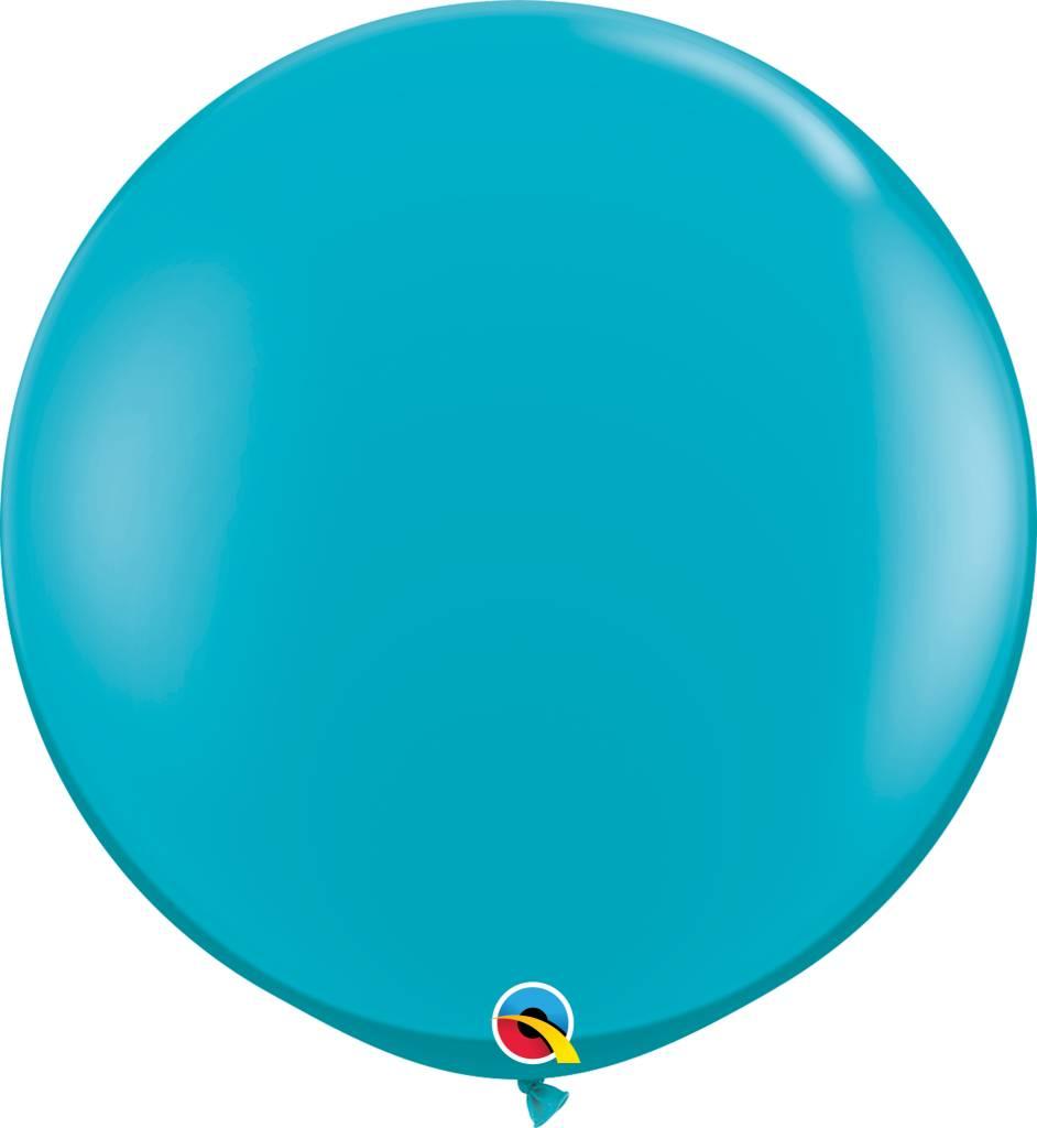 "36"" Balloon Tropical Teal Flat"