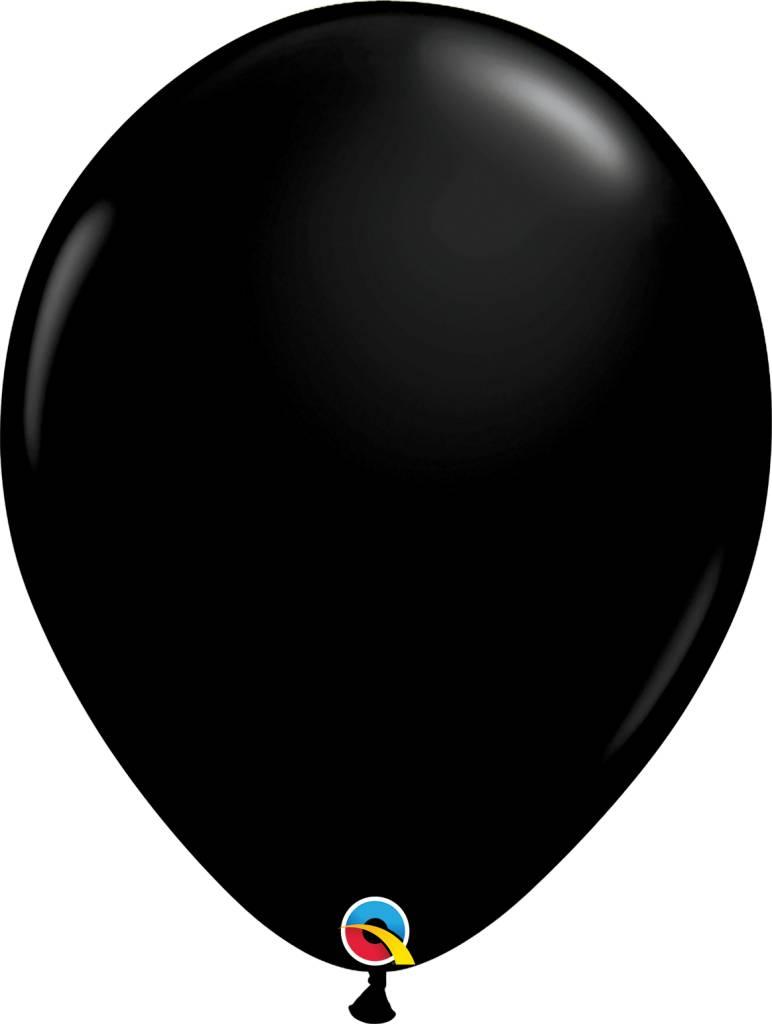 """16"""" Balloon Onyx Black 1 Dozen Flat"""