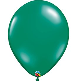 "16"" Balloon Pearl Emerald Green 1 Dozen Flat"