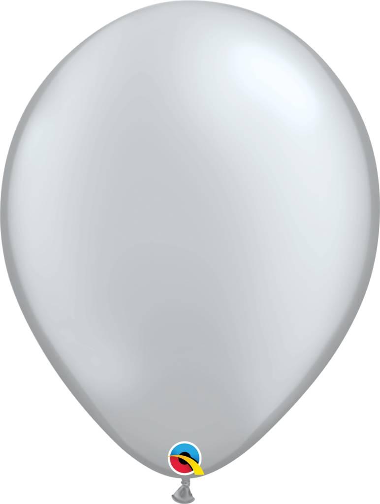 "16"" Balloon Silver 1 Dozen Flat"