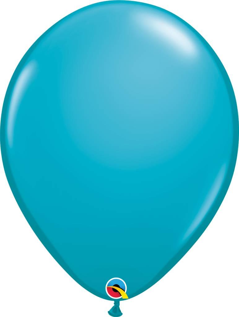 "16"" Balloon Tropical Teal 1 Dozen Flat"