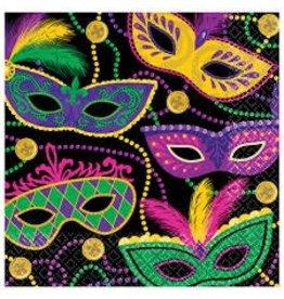 Mardi Gras Masks Luncheon Napkins (16)