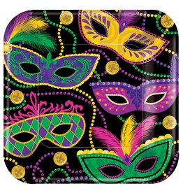 Mardi Gras Masks Small Plates (8)
