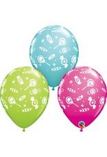 """11"""" Printed Candies Around Balloons 1 Dozen Flat"""