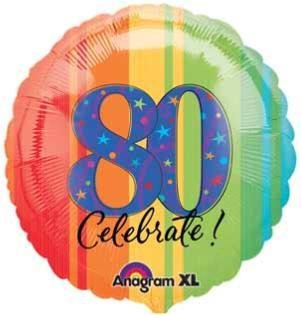 "80 Year To Celebrate 18"" Mylar Balloon"