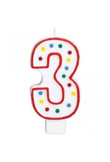 #3 Numeral Candle