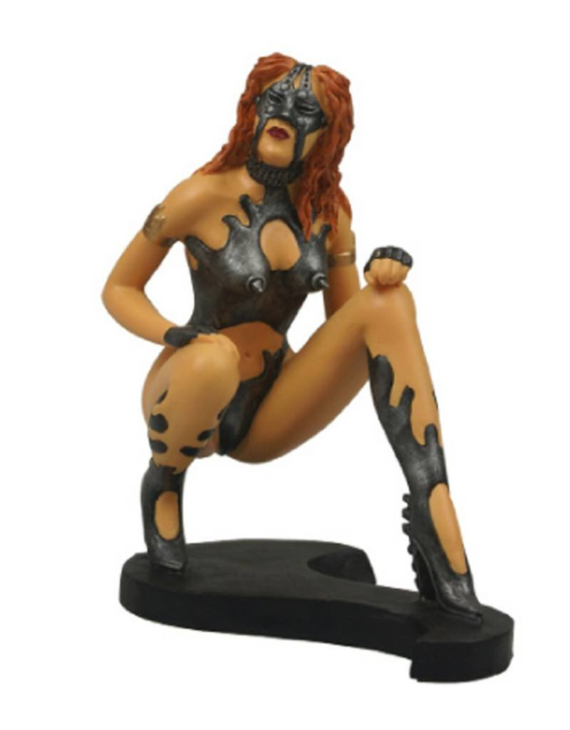 Black Art Girl in the Iron Mask Figurine