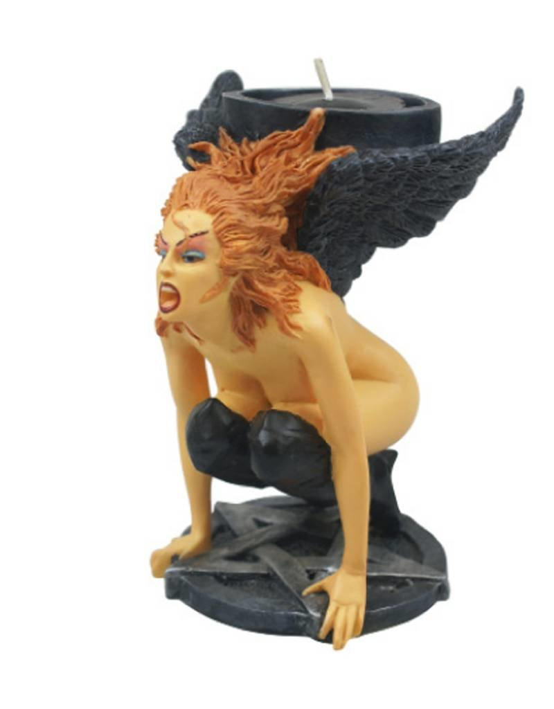 Black Art Demon Girl Candle Holder