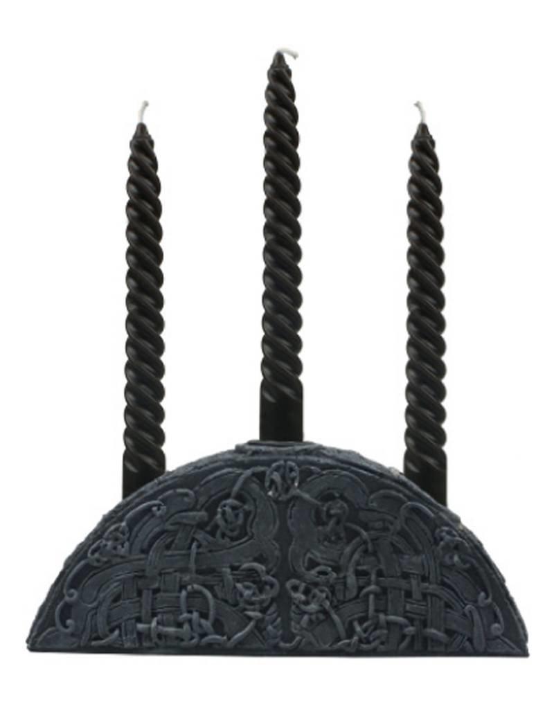 Black Art Gothic 3-Drip Candle Holder