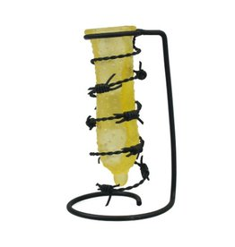 Black Art Barbed Wire Condom Drip Candle Holder