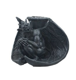 Black Art Gargoyle Drip Candle Holder