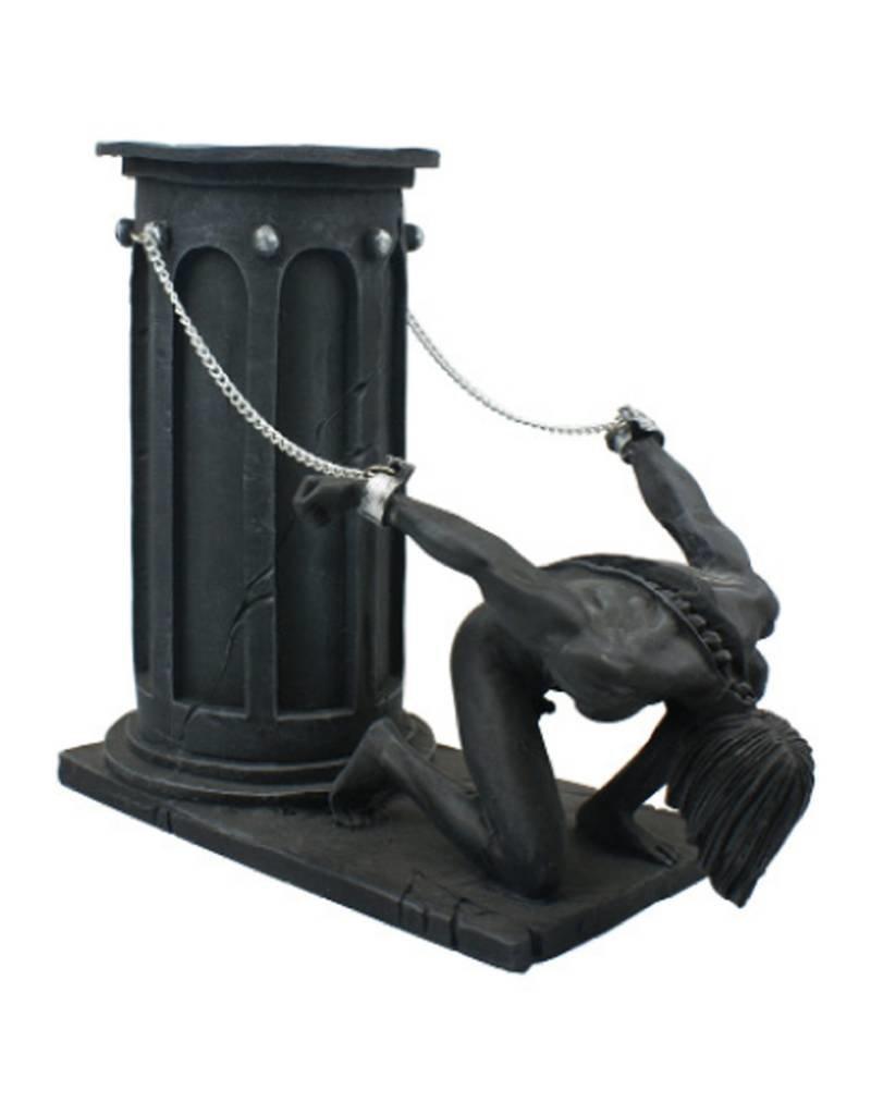 Black Art Slave Pillar Candle Holder