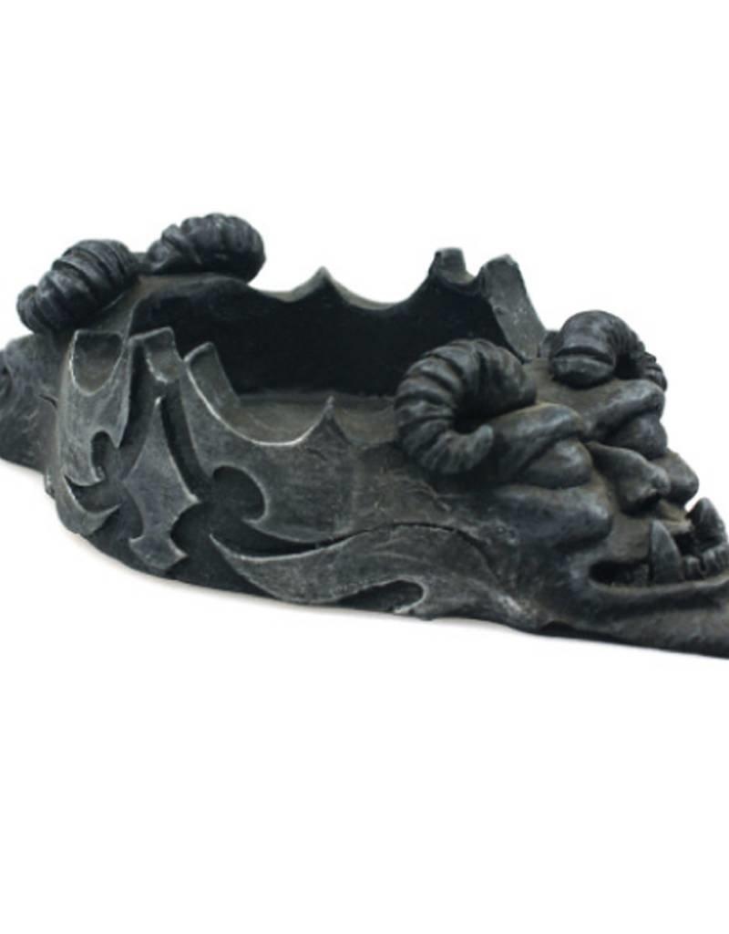 Black Art Gargoyle Face Ashtray