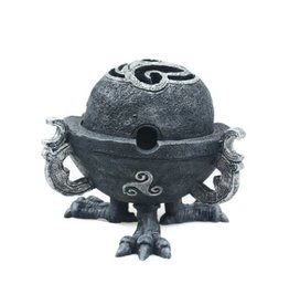 Black Art Enclosed Gothic Incense Burner