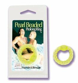 California Exotic Novelties Pearl Beaded Prolong Ring - Glow