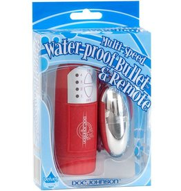Doc Johnson Waterproof Bullet (Silver) -  Red