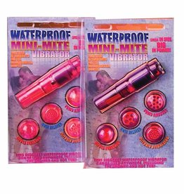 Pipedream Products Waterproof Mini Mite Massager w/4 Heads - Pink