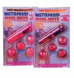 Waterproof Mini Mite Massager w/4 Heads - Purple