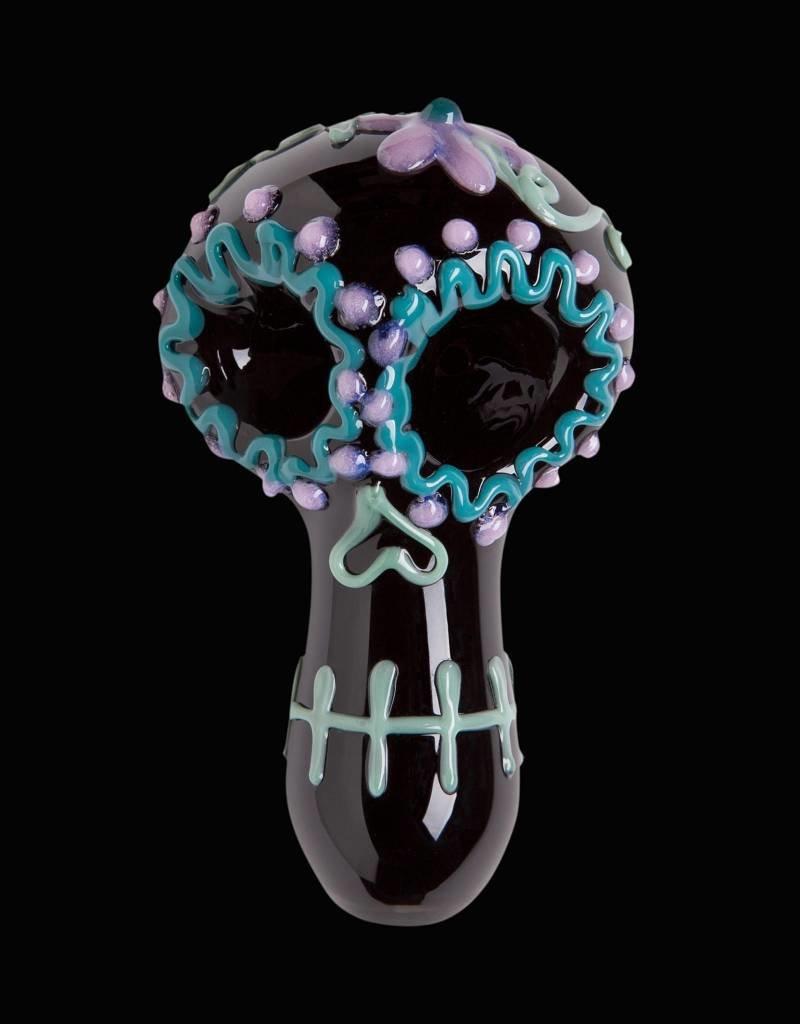 Chameleon Glass Chameleon Hand Pipe - San Ta Muerte