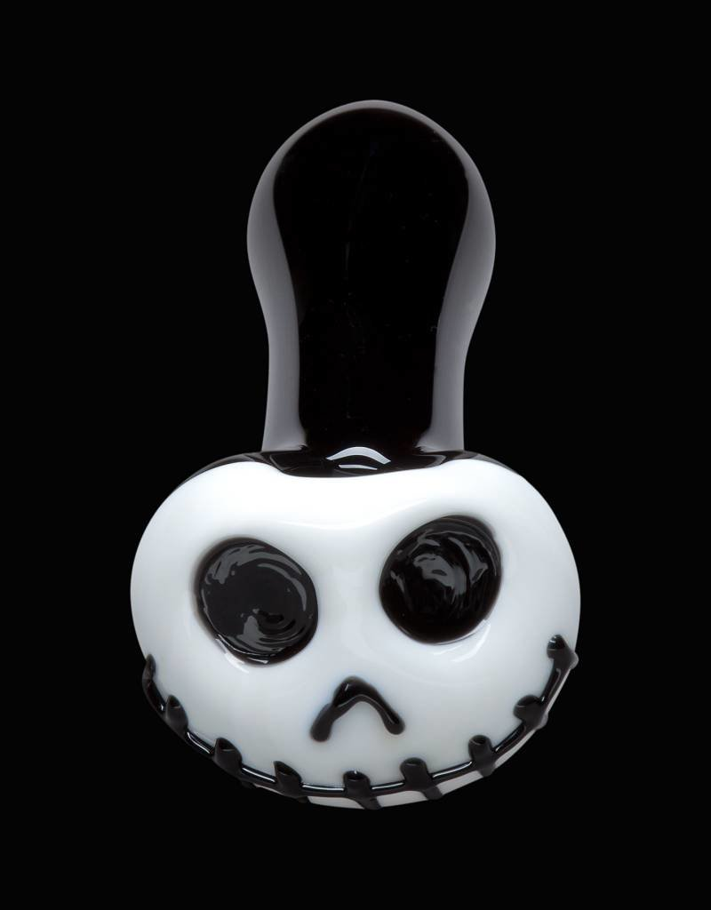 Chameleon Glass Chameleon Hand Pipe - Skellington