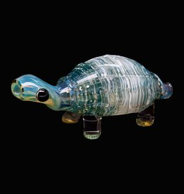 Chameleon Glass Chameleon Hand Pipe - Sculpted Turtle