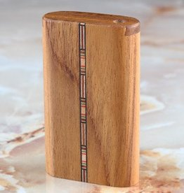 The Mill Teak Inlay Slide Top Dugout- Small