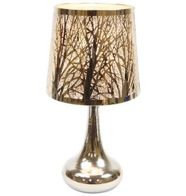 Silver Oil Lamp With Tree Shade