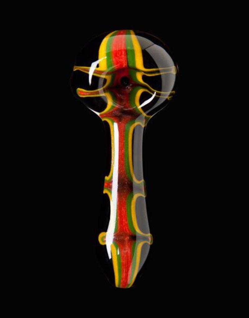Chameleon Glass Chameleon Hand Pipe - Black Irie