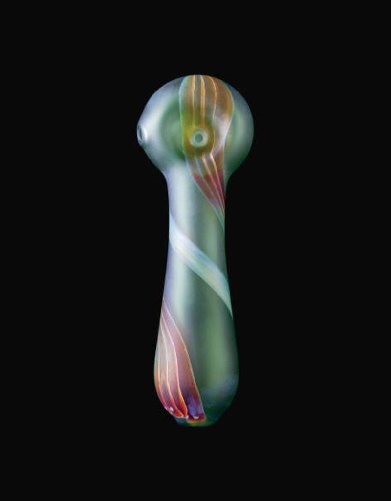 Chameleon Glass Chameleon Hand Pipe - Green Northern Lights