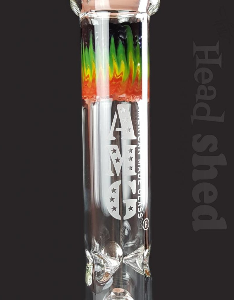 "American Made Glass (AMG) AMG - Beaker Waterpipe AMG - 18""x7mm"