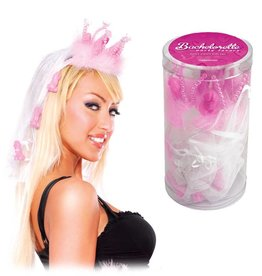 Pipedream Products Bachelorette Party Favors Fancy Penis Crown w/Veil