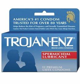 Trojan Trojan-Enz Spermicidal Lubricated Condoms - Box of 3