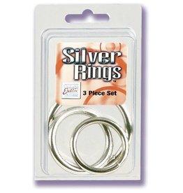 California Exotic Novelties Metal Rings 3 Pack (Sm, Md, Lg) - Silver