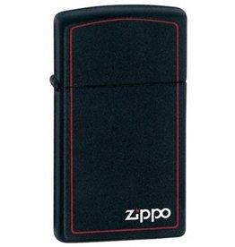Zippo Zippo Lighter - Slim Black Matte w/ Red Trim