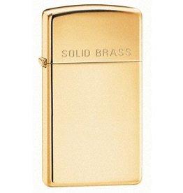 "Zippo Zippo Lighter - Slim High Polish Brass ""Solid Brass"""