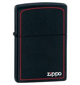 Zippo Zippo Lighter - Black Matte w/ Red Trim