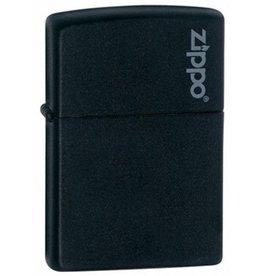 Zippo Zippo Lighter - Black Matte Zippo Logo