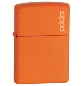 Zippo Zippo Lighter - Orange Matte Zippo Logo