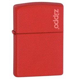 Zippo Zippo Lighter - Red Matte Zippo Logo