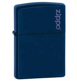 Zippo Zippo Lighter - Navy Matte Zippo Logo