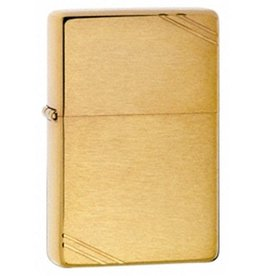 Zippo Zippo Lighter - Brushed Brass w/ Slashes