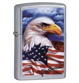 Zippo Zippo Lighter - Street Chrome Mazzi Eagle
