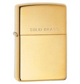 "Zippo Zippo Lighter - High Polish Brass ""Solid Brass"""