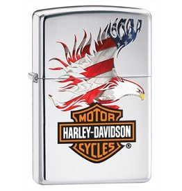 Zippo Zippo Lighter - High Polish Chrome HD logo Eagle