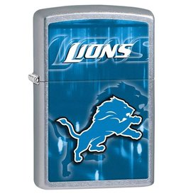 Zippo Zippo Lighter - Brushed Chrome NFL Lions