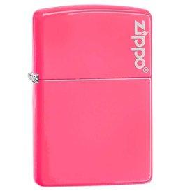 Zippo Zippo Lighter - Neon Pink Zippo Logo