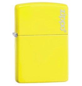 Zippo Zippo Lighter - Neon Yellow Zippo Logo