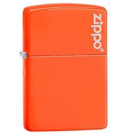 Zippo Zippo Lighter - Neon Orange Zippo Logo