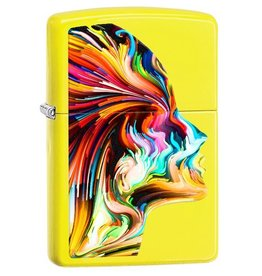Zippo Zippo Lighter - Neon Yellow Colorful Head