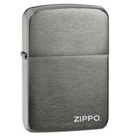"Zippo Zippo Lighter - 1941 Replica Black Ice ""Zippo"" logo"